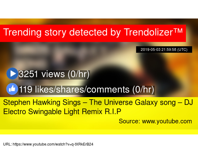 Stephen Hawking Sings – The Universe Galaxy song – DJ